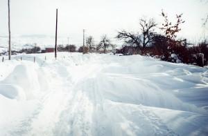 Zapada de iarna in Romania
